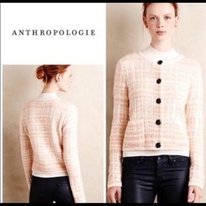 Anthropologie Knitted and Knotted Wool Cardigan L